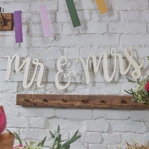 Mr. & Mrs. Wooden Wedding Sign